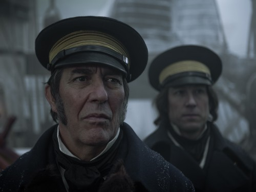 John Franklin (Ciaran Hinds) and James Fitzjames (Tobias Menzies) Photo by Aidan Monaghan/AMC