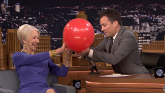 WATCH: Helen Mirren Can't Turn Down Helium Balloon on 'The Tonight Show'