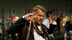WATCH: James Corden Flaunts It on the Catwalk for Burberry