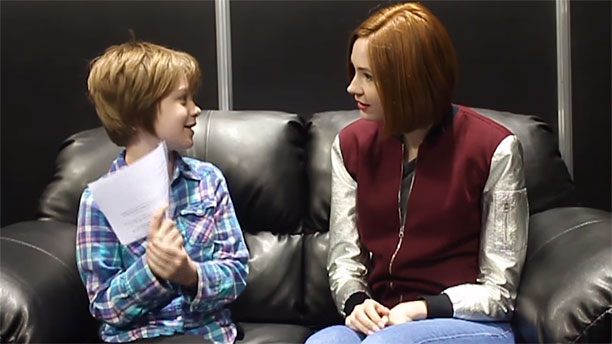 WATCH: Karen Gillan Interviewed by a 9-Year-Old Girl
