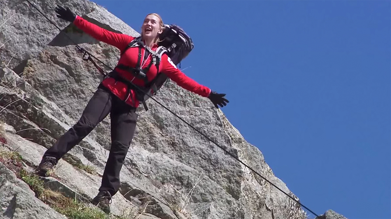 WATCH: Kate Winslet's 'Titanic' Walk Down a Mountain