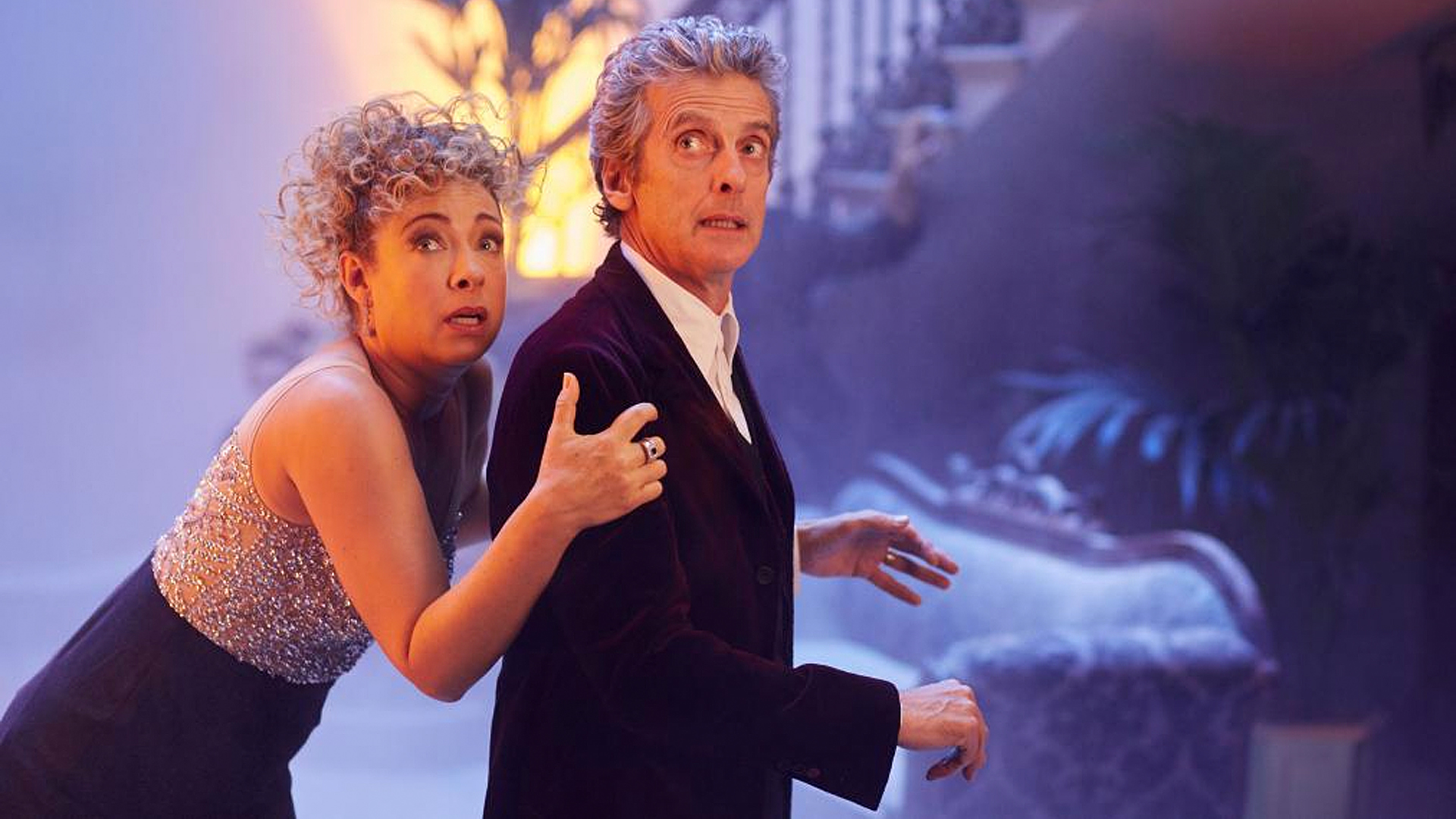 Peter Capaldi and Alex Kingston in the 'Doctor Who' Christmas special (Photo: BBC)