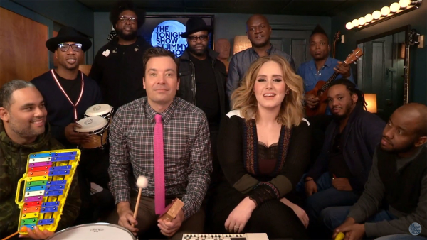 WATCH: Adele, Jimmy Fallon, and The Roots Play 'Hello' with Classroom Instruments