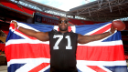 Great Britain's Menelik Watson of Oakland Raiders poses for a photo during a NFL Media Day at Wembley Stadium, on July 16, 2014 in London, England. (Photo: Charlie Crowhurst/Getty Images)