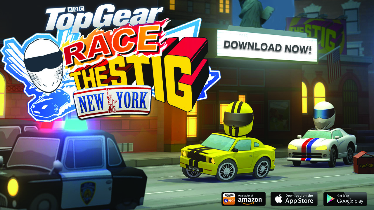 "Play ""Race The Stig"" on NYC Racetracks"