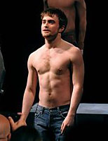 Daniel Radcliffe shirtless in Equus