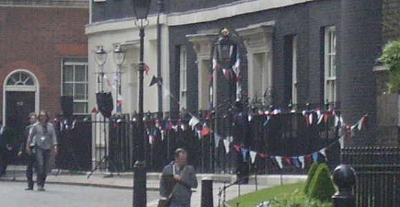 Downing Street bunting