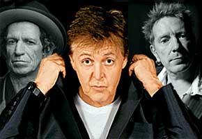 Keith Richards, Paul McCartney and John Lydon
