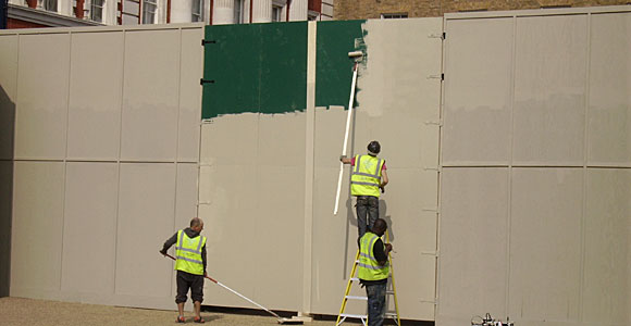 Panel painters on Horseguards Parade