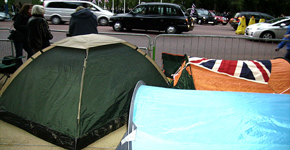 Tents and taxi