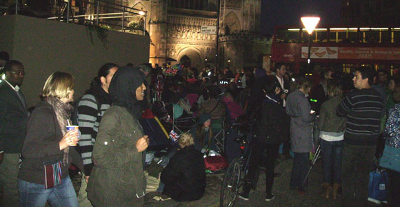 The campers outside Westminster Abbey