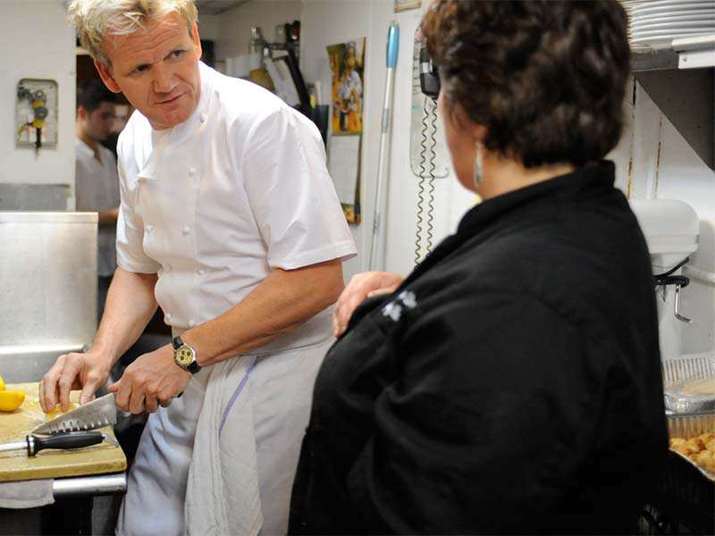 Bazzini ramsay s kitchen nightmares bbc america for Kitchen nightmares uk