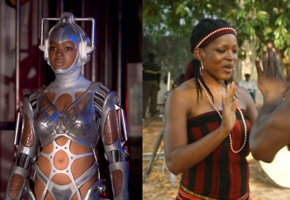 Remember Ianto's Cyberwoman girlfriend whom he kept hidden in the basement? Who later went completely apes*** and terrorized the entire Torchwood crew? She was played by the gorgeous Caroline Chikezie, who most recently appeared in the 2010 Nigerian movie musical Inalé.