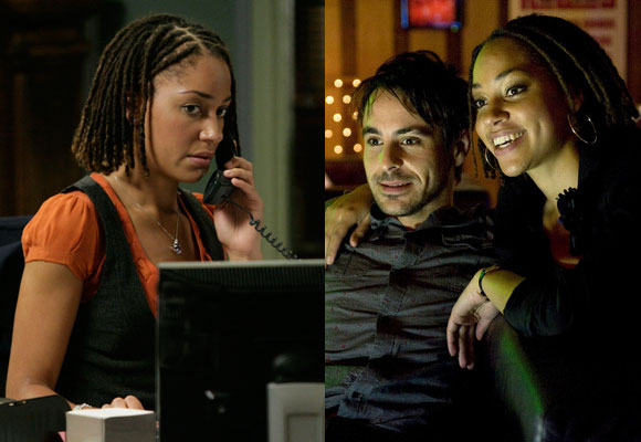 In Children of Earth, Lois was the plucky PA who spied for Torchwood by wearing contact lenses fitted with cameras. The marvelously named Cush Jumbo most recently played straight girl Becky on BBC3's Sapphocentric drama Lip Service, which premiered last fall.