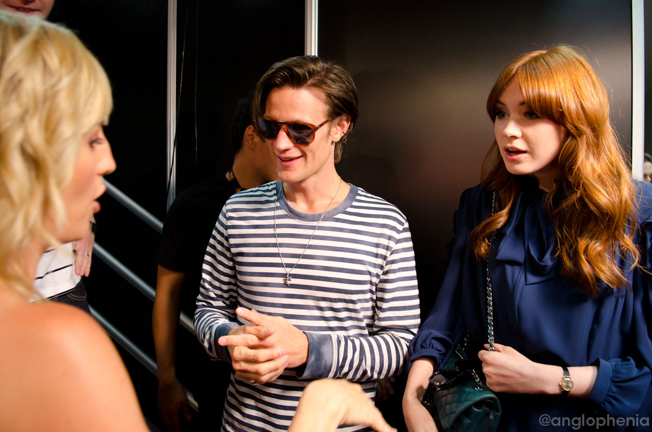 Matt Smith and Karen Gillan at G4