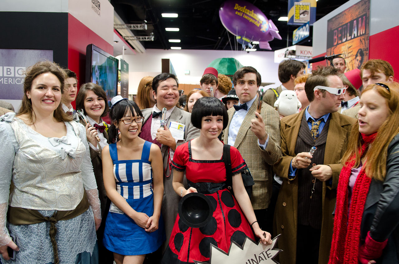 While most participants dressed as the Eleventh Doctor and Amy, a myriad of former Timelords, monsters, and supporting characters were represented.