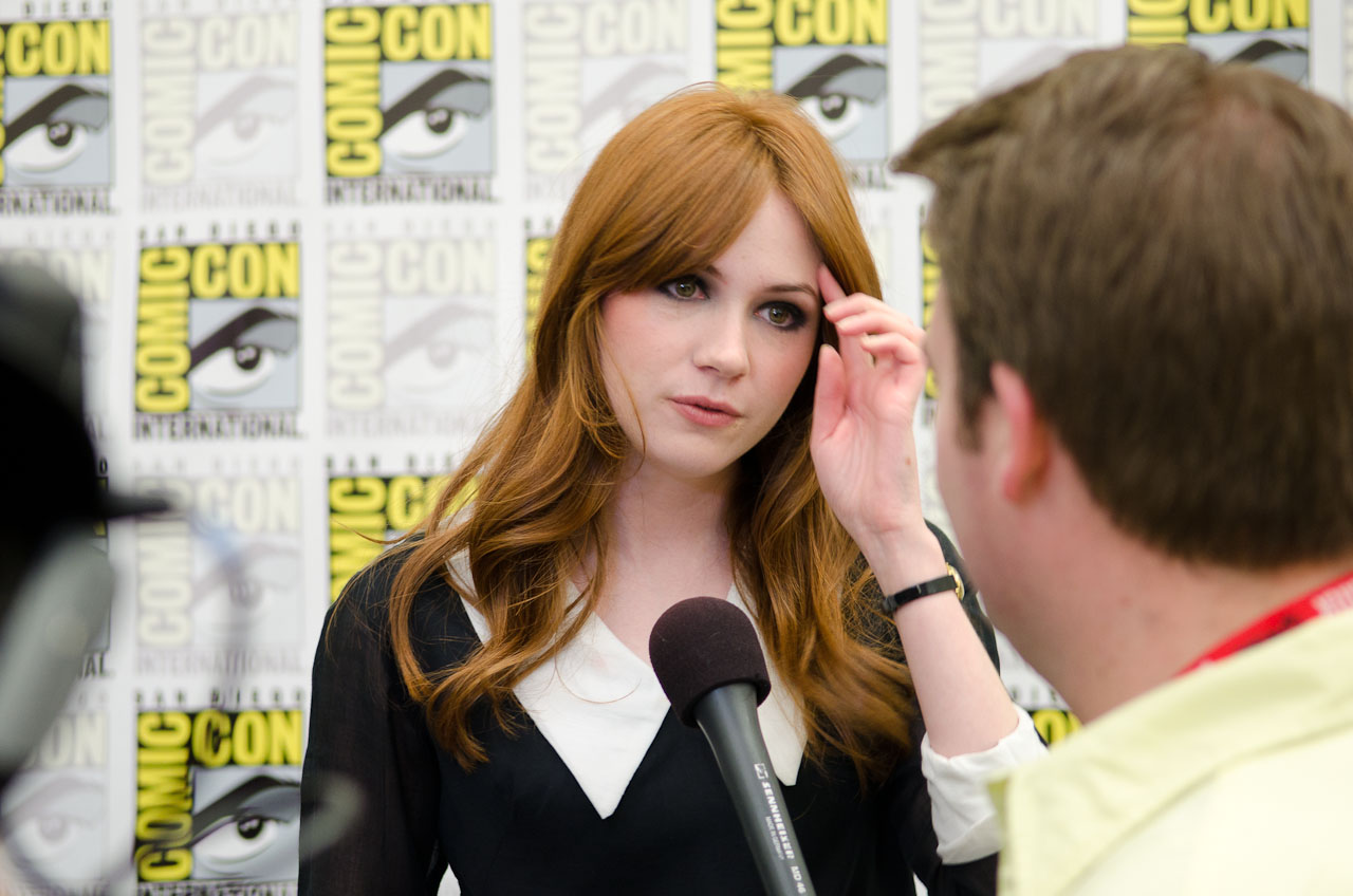 Karen Gillan at the 2011 San Diego Comic-Con
