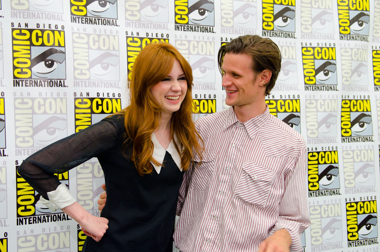 Karen Gillan and Matt Smith. Photo by Dave Gustav Anderson.