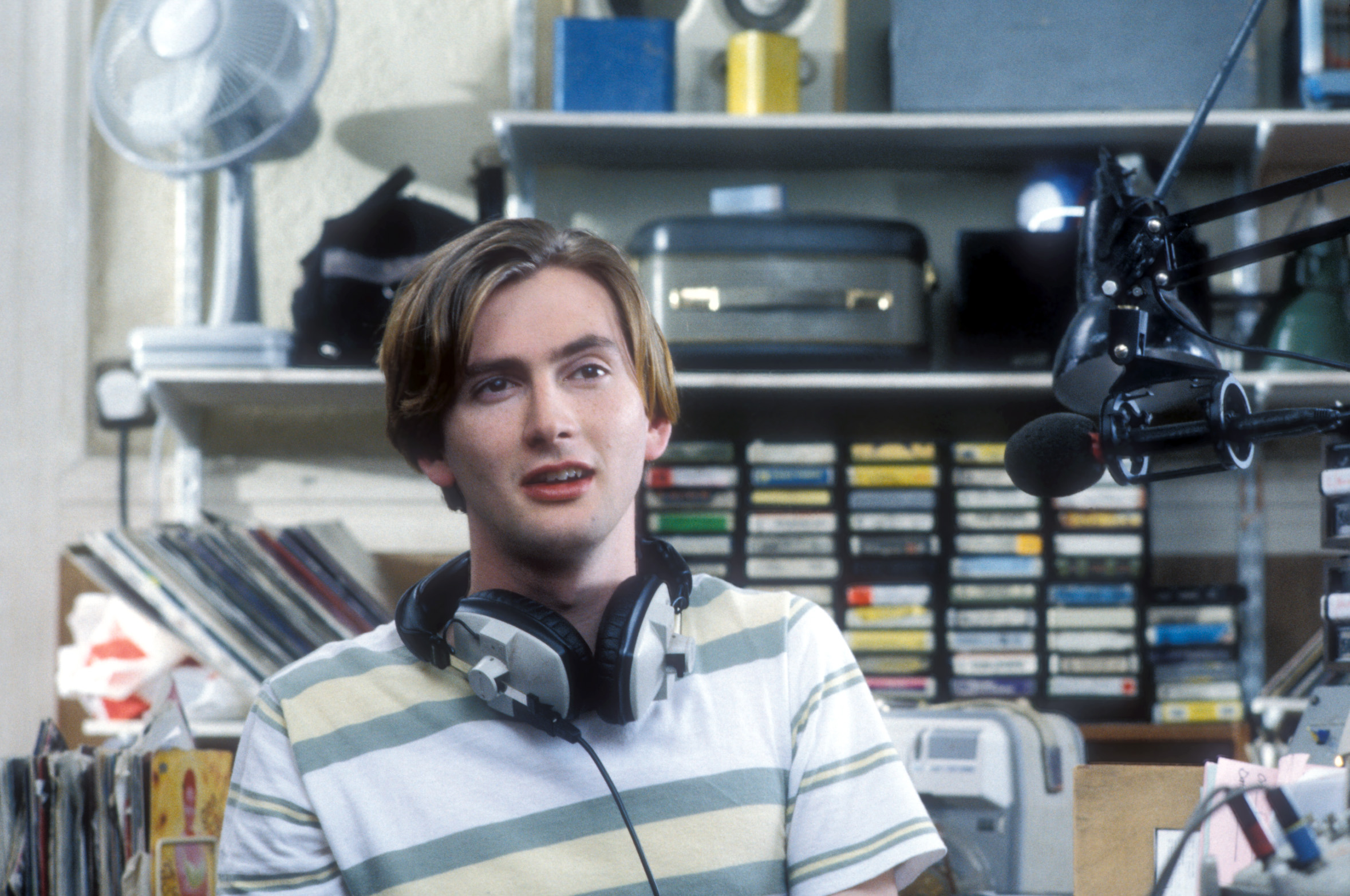 Wielding a Scottish accent as thick as canned haggis, a 23-year-old Tennant played a manic-depressive in the six-part BBC drama, Taking Over the Asylum. Watch clips.