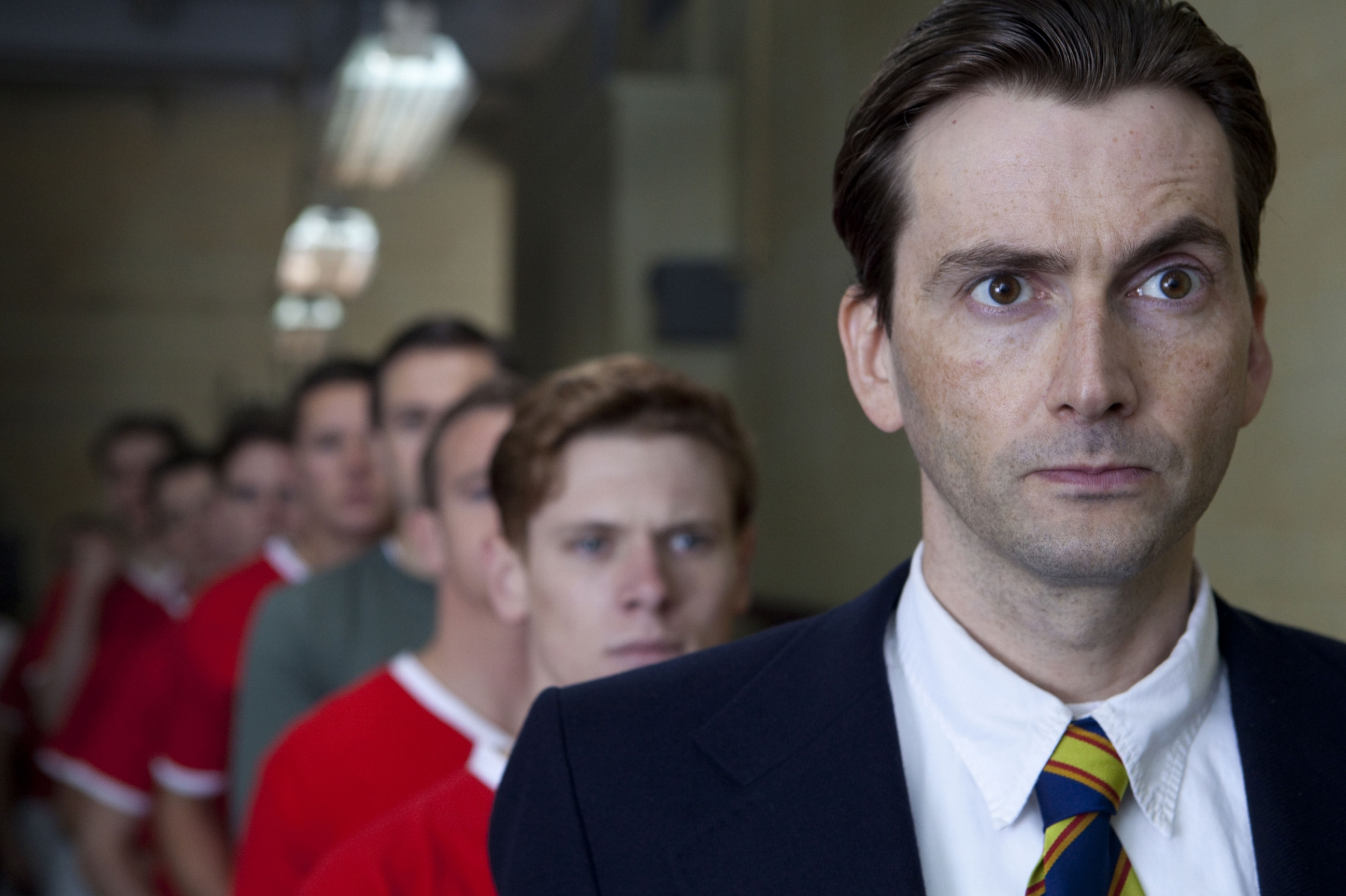 Tennant has specialized in portraying real-life figures. In the BBC telefilm United, he stepped into the shoes of Jimmy Murphy, assistant manager for the Manchester United football squad, as he attempts to pull together the team following the 1958 Munich plane crash that killed most of its players. Watch a clip.