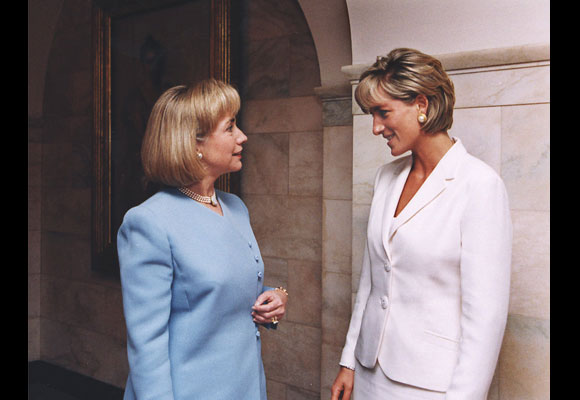 Power summit: the Princess met with the then-First Lady at the White House. (AP Photo/White House)