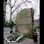 The poet William Blake's grave is adjacent to Daniel Defoe's tomb in Bunhill Fields. (Press Association via AP Images)