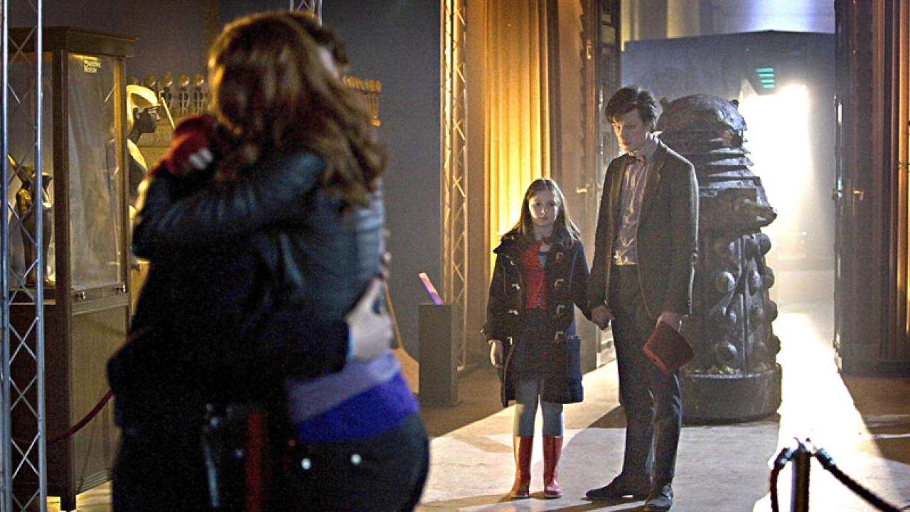 Amy and Rory Embrace