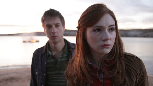 Amy, Rory and the burning canoe