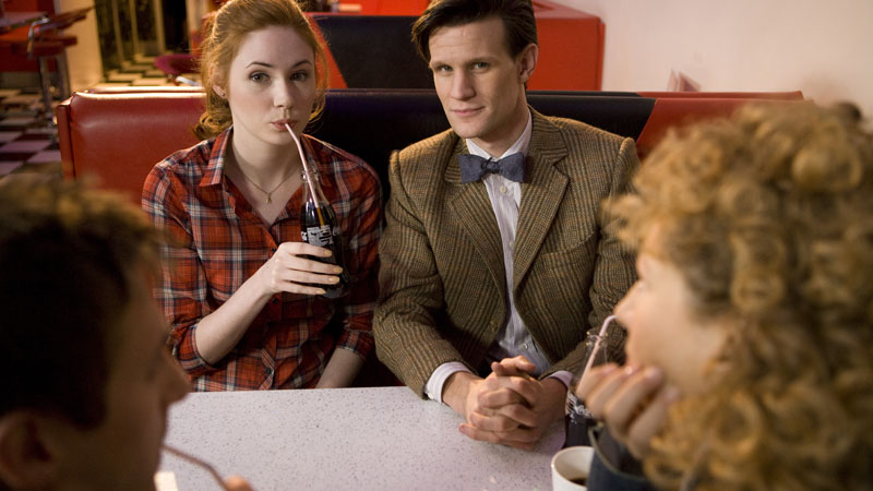 The Doctor, Amy Pond, Rory Williams and River Song