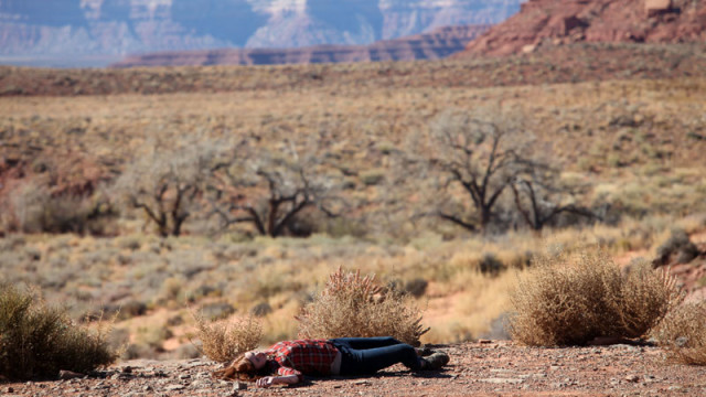 Amy on the ground
