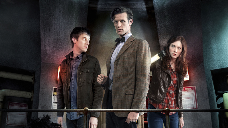 The Doctor and his companions.