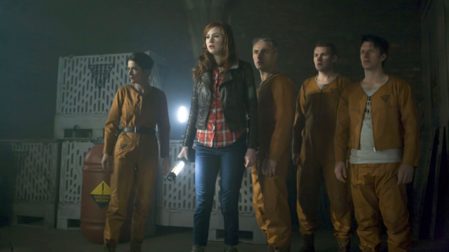 Amy and the factory workers