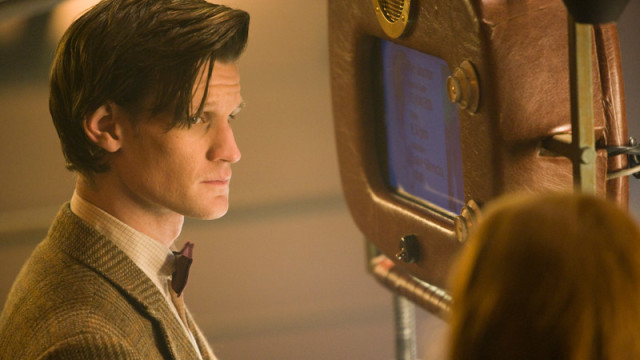 The Doctor looks at Amy