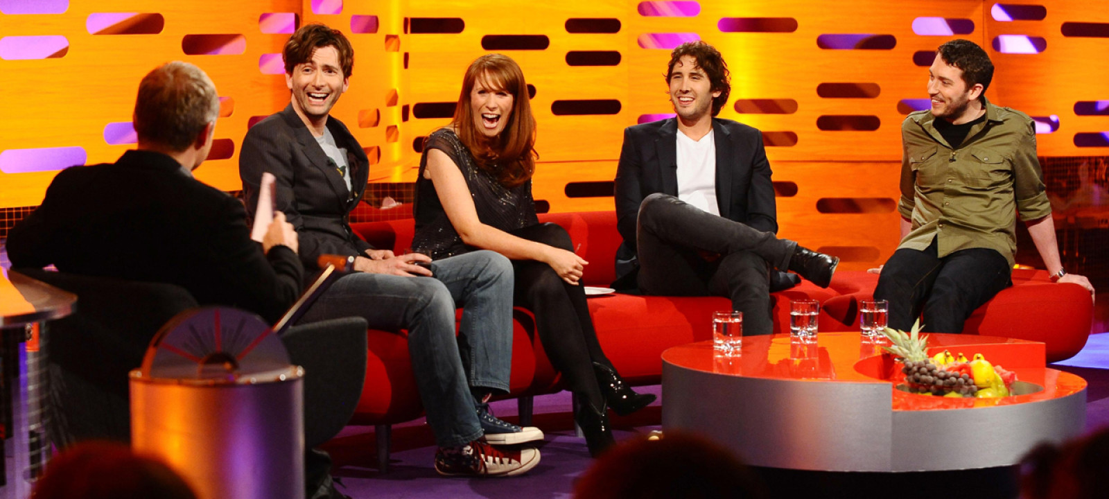 David Tennant, Catherine Tate, Josh Groban and Jon Richardson