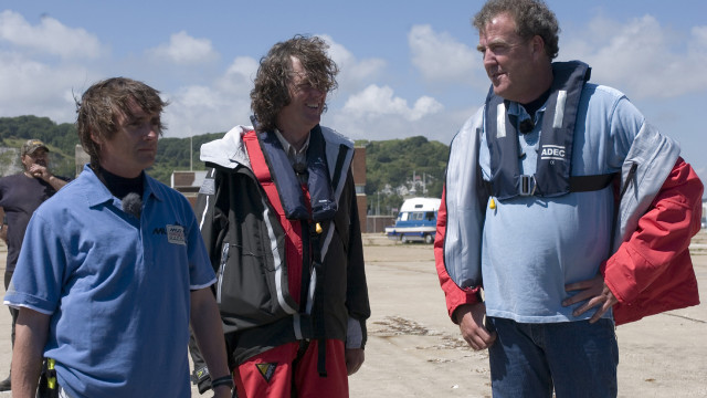 Richard, James and Jeremy plot their next approach into the English Channel