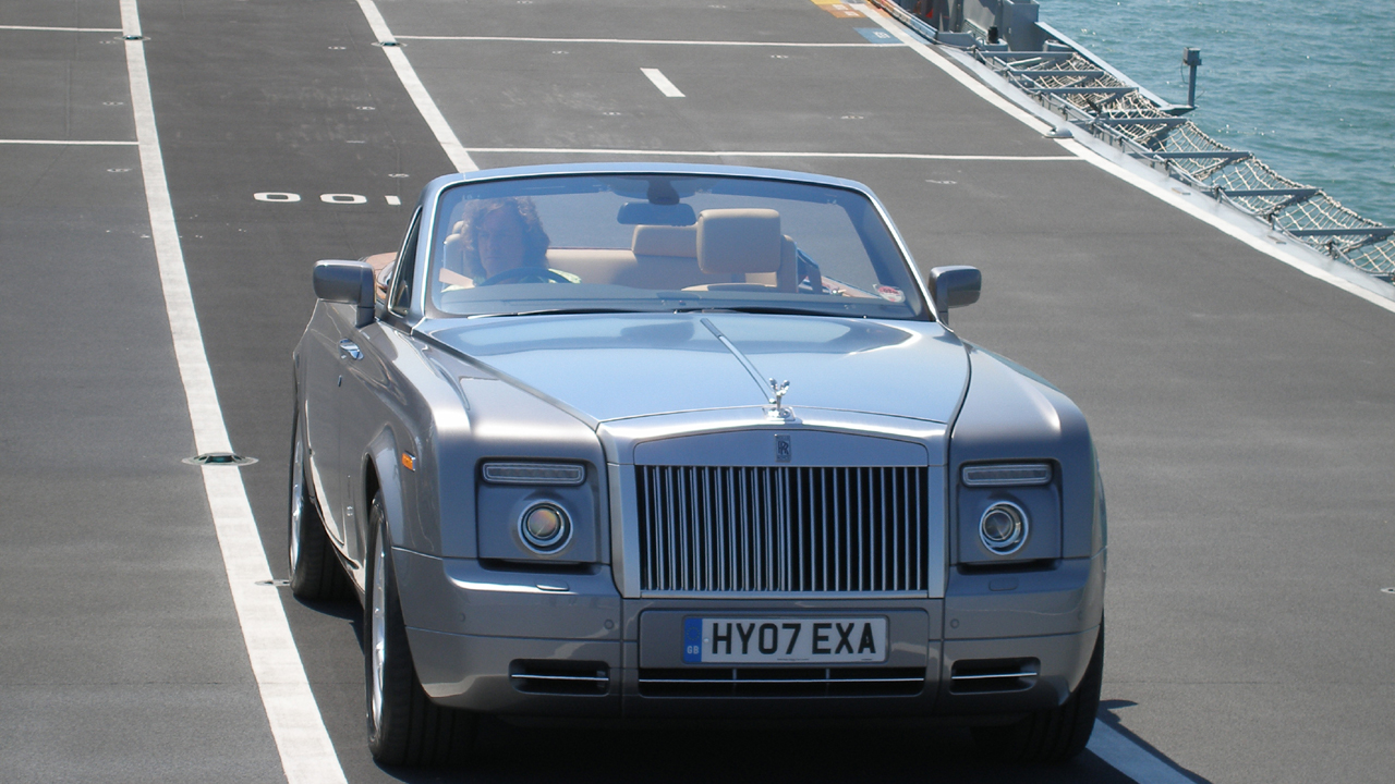 James drives the Rolls-Royce Phantom Drophead