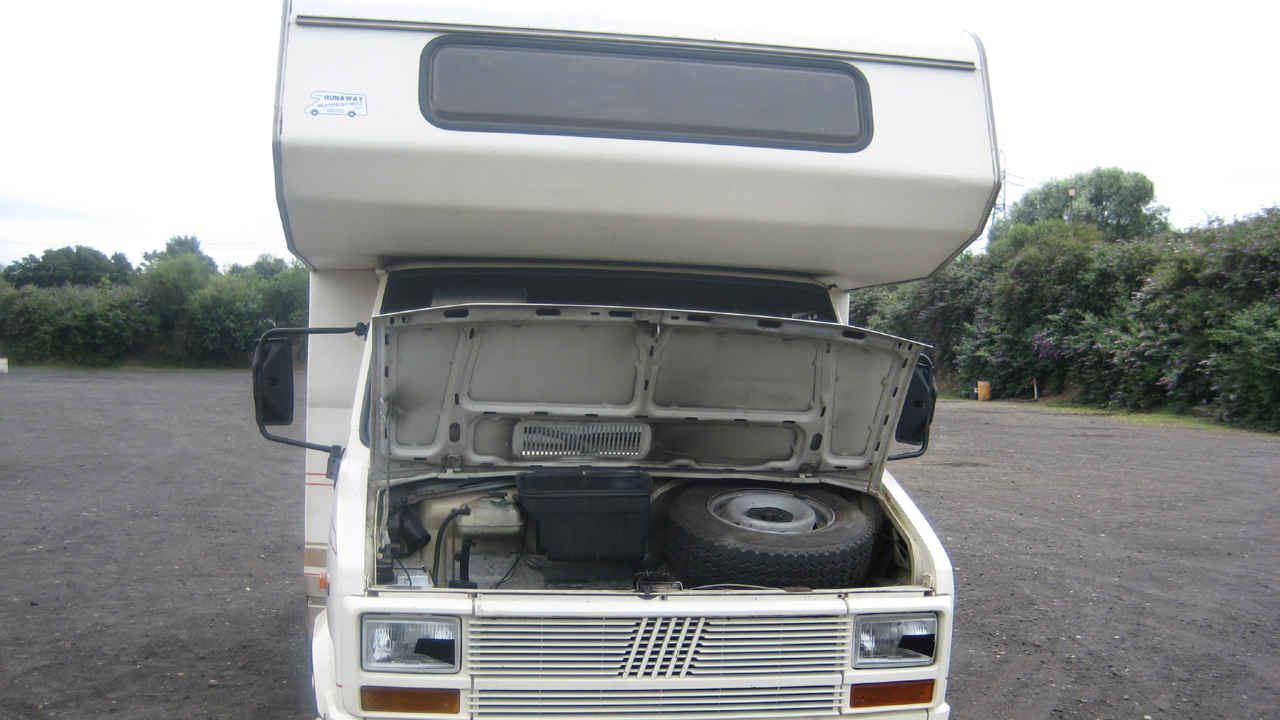 A look under the hood of a racing motorhome