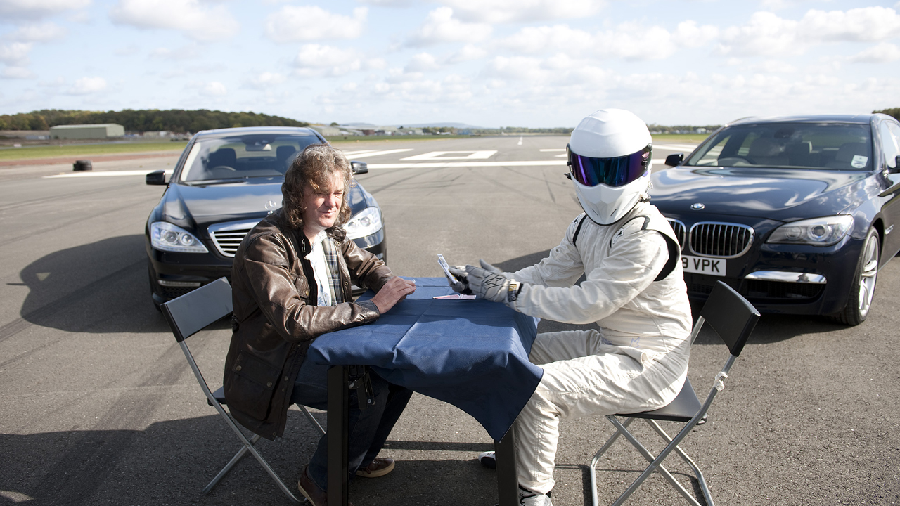 James plays Top Trumps with Chauffeur Stig