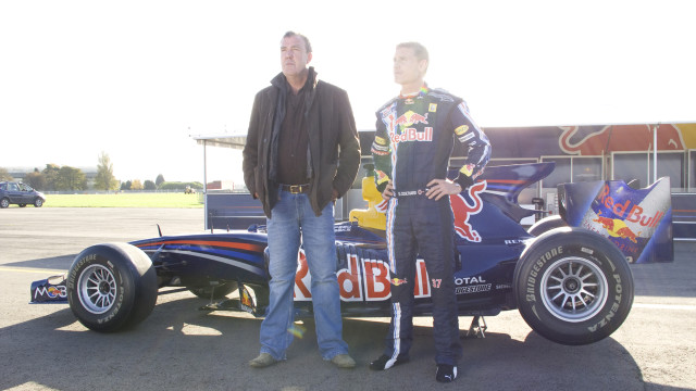 Jeremy makes art with F1 driver David Coulthard
