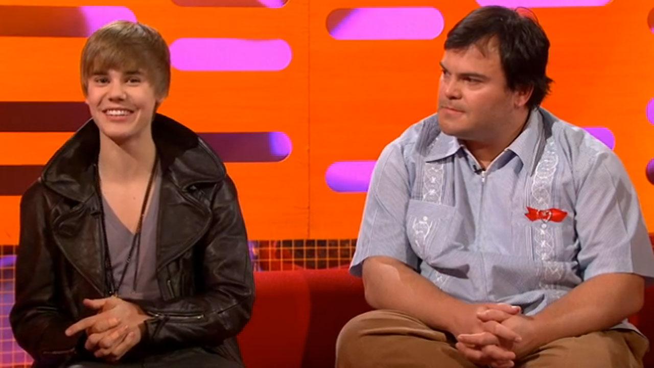 Justin Bieber and Jack Black