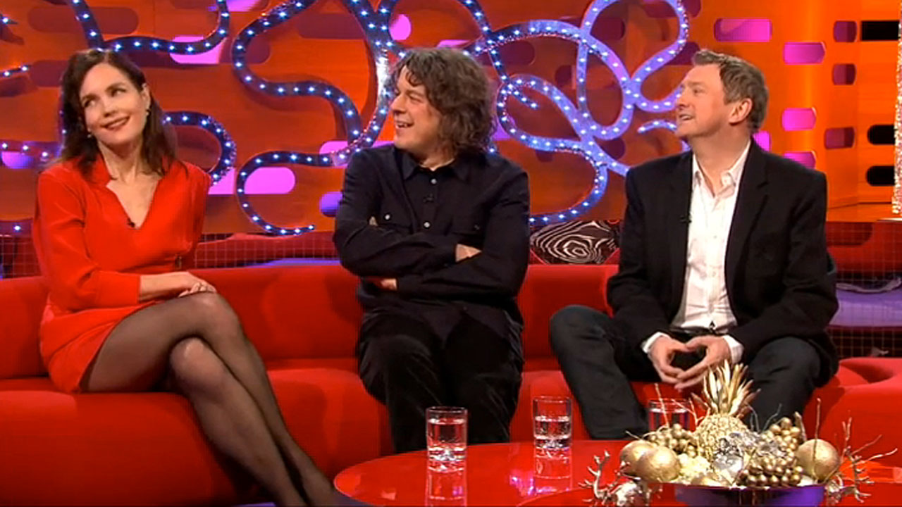 Elizabeth McGovern, Alan Davies and Louis Walsh