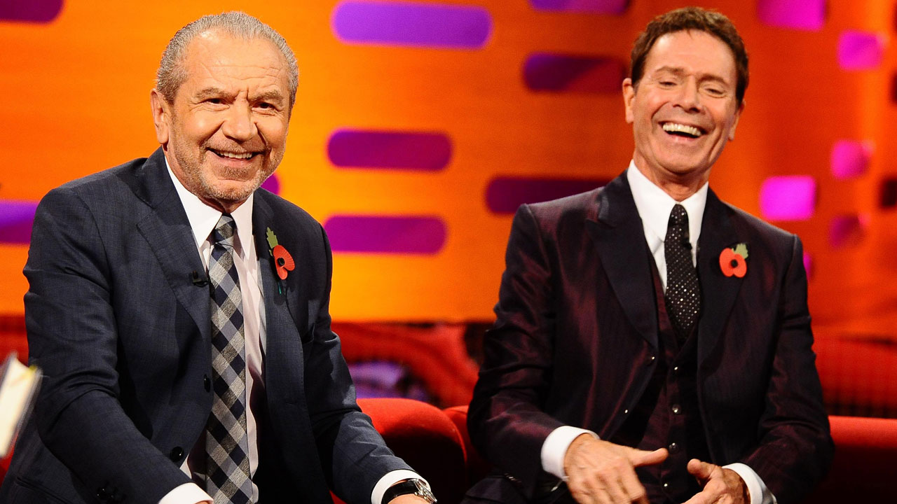 Lord Alan Sugar and Sir Cliff Richard