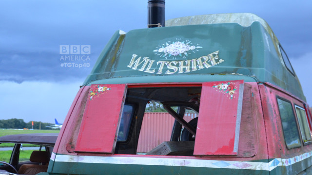 The posterior of Hammond's Amphibious van. (Photo by Christopher Fetner)