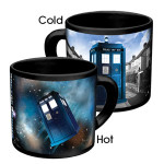 When you pour a hot beverage into the mug, the TARDIS appears in space, but as the liquid cools, the ship vanishes, popping up on the other side of the mug. A dazzling bit of Time Lord technology. (Get it for a friend)