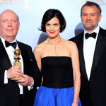While cast of the popular PBS series went home empty-handed, the UK period drama Downton Abbey won the Golden Globe for Best Miniseries or Made-for-TV Movie. (AP Photo/Mark J. Terrill)