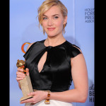 Winslet once again proved a darling of the Hollywood Foreign Press Association, winning for Mildred Pierce, her third trophy overall.  (AP Photo/Mark J. Terrill)