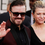 British comedian and former Office star Ricky Gervais hosted the ceremony, garnering mixed reviews for his surprising kid-glove treatment of his celebrity audience. In 2011, Gervais sparked controversy with his tart remarks and zingers aimed at celebs ranging from Mel Gibson to Tim Allen. (AP Photo/Matt Sayles)