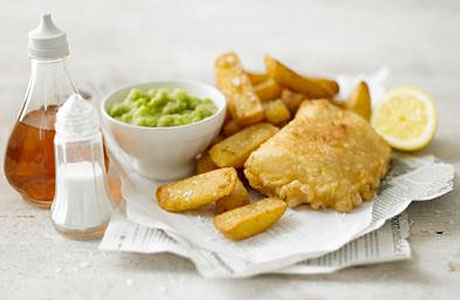 Iconic british things part 3 fish chips anglophenia for British fish and chips recipe