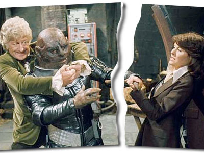 The Doctor, a Sontaran and (the second) Sarah Jane Smith