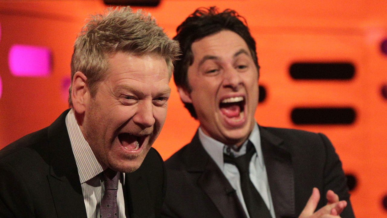 Kenneth Branagh and Zach Braff laugh it up!